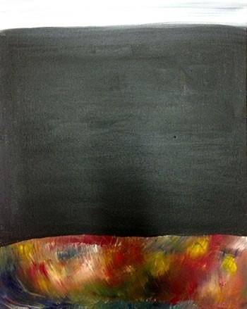 Block acrylic on canvas 16 x 12,  Joey Paynter 2015