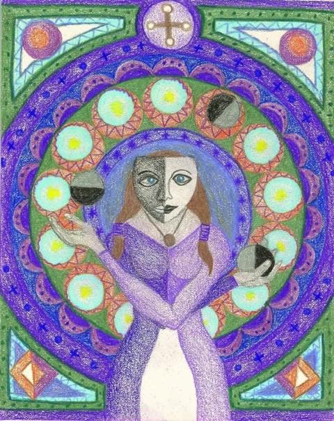 Polarized by Tina Azaria Chalk Pastel, 2004