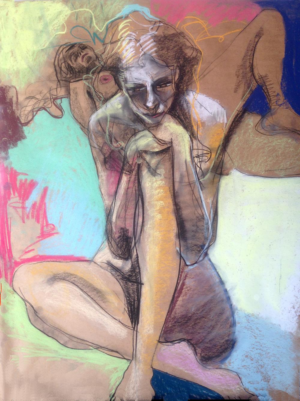 VeraLong-Mediatrix (2)-eternal,-moment-Vera-Long-30-x-40-inches-pastel-on-paper 2014 MED