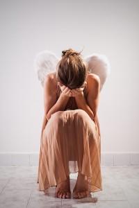 desperate dark Lonely angel