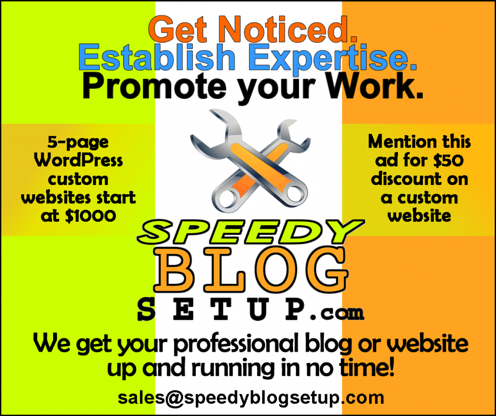 Speedy Blog Setup