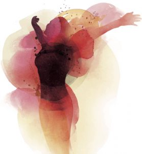 artistic creative woman dancing