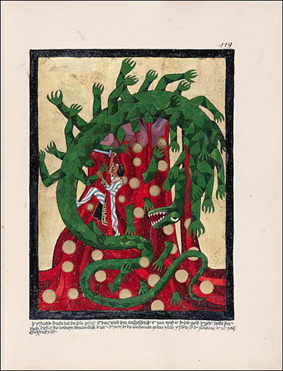 Jung's Red Book Image - Dragon