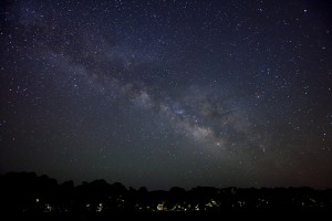 milky way in starry sky